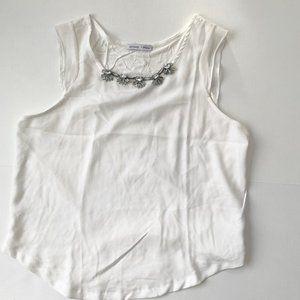 Zara White Sleeveless Top Large